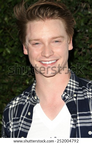 LOS ANGELES - FEB 10: Calum Worthy at the screening of the Disney Channel Original Movie 'Bad Hair Day' at the Frank G Wells Theater on February 10, 2015 in Burbank, CA - stock photo