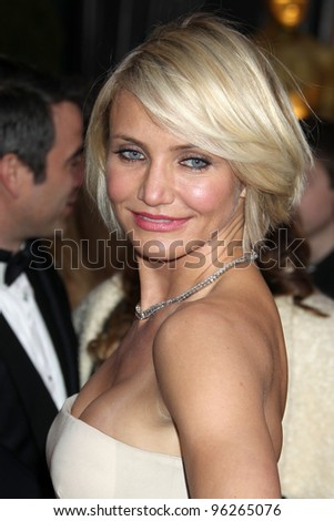 LOS ANGELES - FEB 26:  Cameron Diaz arrives at the 84th Academy Awards at the Hollywood & Highland Center on February 26, 2012 in Los Angeles, CA. - stock photo