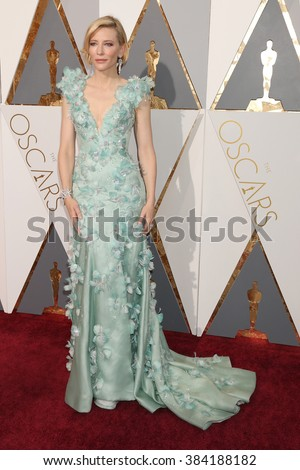 LOS ANGELES - FEB 28:  Cate Blanchett at the 88th Annual Academy Awards - Arrivals at the Dolby Theater on February 28, 2016 in Los Angeles, CA - stock photo