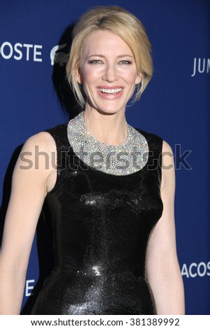 LOS ANGELES - FEB 23:  Cate Blanchett at the 18th Costume Designers Guild Awards at the Beverly Hilton Hotel on February 23, 2016 in Beverly Hills, CA - stock photo