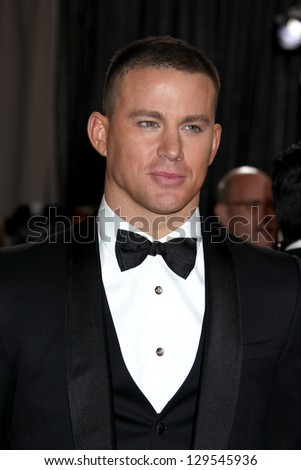 LOS ANGELES - FEB 24:  Channing Tatum arrives at the 85th Academy Awards presenting the Oscars at the Dolby Theater on February 24, 2013 in Los Angeles, CA - stock photo
