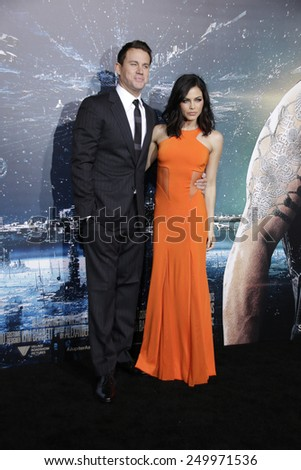LOS ANGELES - FEB 2: Channing Tatum, Jenna Dewan at the 'Jupiter Ascending' Los Angeles Premiere at TCL Chinese Theater on February 2, 2015 in Hollywood, Los Angeles, California - stock photo