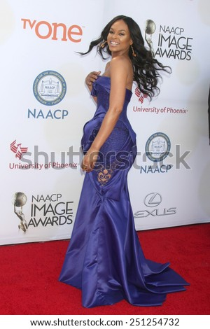 LOS ANGELES - FEB 6:  Demetria McKinney at the 46th NAACP Image Awards Arrivals at a Pasadena Convention Center on February 6, 2015 in Pasadena, CA