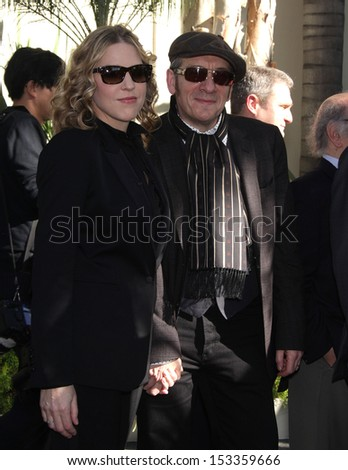 LOS ANGELES - FEB 09:  Diana Krall & Elvis Costello arrives to the Walk of Fame Ceremony for Paul McCartney  on Febraury 09, 2012 in Hollywood, CA                 - stock photo