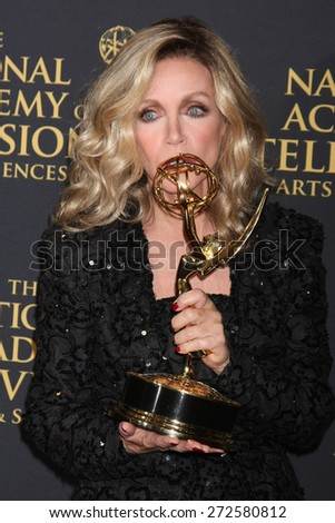 LOS ANGELES - FEB 24:  Donna Mills at the Daytime Emmy Creative Arts Awards 2015 at the Universal Hilton Hotel on April 24, 2015 in Los Angeles, CA - stock photo