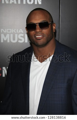 LOS ANGELES - FEB 9:  Dwight Freeney arrives at the ROC NATION Annual Pre-Grammy Brunch at the Soho House on February 9, 2013 in West Hollywood, CA - stock photo