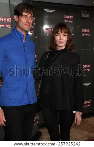 LOS ANGELES - FEB 20:  Ed Cooper Clarke, Valene Kane at the GREAT British Film Reception Honoring The British Nominees Of The 87th Annual Academy Awards on February 20, 2015 in West Hollywood, CA - stock photo