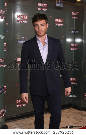 LOS ANGELES - FEB 20:  Ed Westwick at the GREAT British Film Reception Honoring The British Nominees Of The 87th Annual Academy Awards at a London Hotel on February 20, 2015 in West Hollywood, CA - stock photo