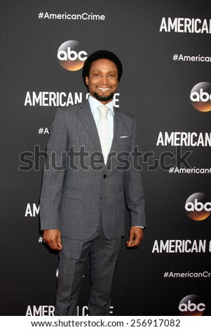 "LOS ANGELES - FEB 28:  Elvis Nolasco at the ""American Crime"" Premiere Screening at the The Theatre at Ace Hotel on February 28, 2015 in Los Angeles, CA"
