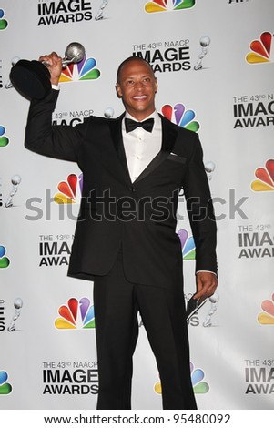 LOS ANGELES - FEB 17:  Emerson Brooks in the Press Room of the 43rd NAACP Image Awards at the Shrine Auditorium on February 17, 2012 in Los Angeles, CA