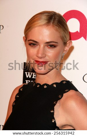LOS ANGELES - FEB 22:  Emily Wickersham at the Elton John Oscar Party 2015 at the City Of West Hollywood Park on February 22, 2015 in West Hollywood, CA - stock photo