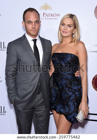 LOS ANGELES - FEB 14:  Ethan Embry & Sunny Mabrey arrives to the Make-Up Artists & Hair Stylists Guild Awards 2015  on February 14, 2015 in Hollywood, CA                 - stock photo