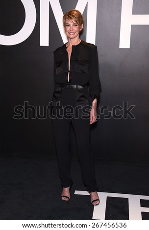 LOS ANGELES - FEB 20:  Faith Hill arrives to the Tom Ford Autumn/Winter 2015 Womenswear Collection Presentation  on February 20, 2015 in Hollywood, CA                 - stock photo