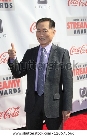 LOS ANGELES - FEB 17: George Takei at the 3rd Annual Streamy Awards at the Hollywood Palladium on February 17, 2013 in Los Angeles, California - stock photo