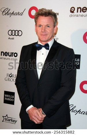 LOS ANGELES - FEB 22:  Gordon Ramsay at the Elton John Oscar Party 2015 at the City Of West Hollywood Park on February 22, 2015 in West Hollywood, CA - stock photo