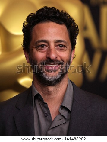 LOS ANGELES - FEB 6:  GRANT HESLOV arrives to the 2012 Academy Awards Nominee Luncheon  on Feb 6, 2012 in Beverly Hills, CA - stock photo