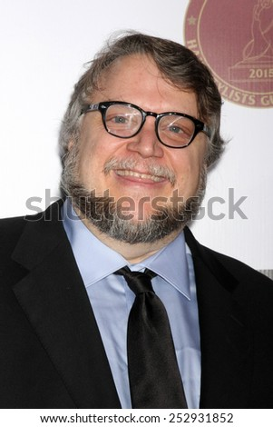 LOS ANGELES - FEB 14:  Guillermo Del Toro at the 2015 Make-up and Hair Stylists Guild Awards at a Paramount Theater on February 14, 2015 in Los Angeles, CA - stock photo