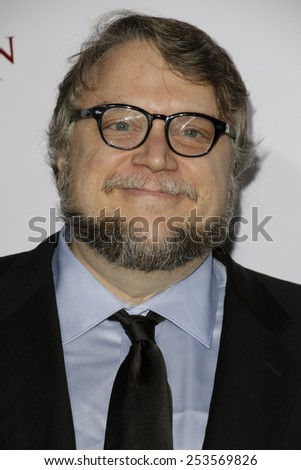 LOS ANGELES - FEB 14: Guillermo Del Toro at the Make-Up Artists & Hair Stylists Guild Awards at the Paramount Theater on February 14, 2015 in Los Angeles, CA - stock photo