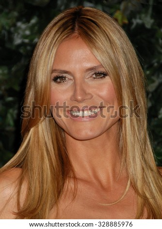 LOS ANGELES - FEB 22 - Heidi Klum arrives at the 4th QVC Red Carpet Style on February 22, 2013 in Los Angeles, CA              - stock photo