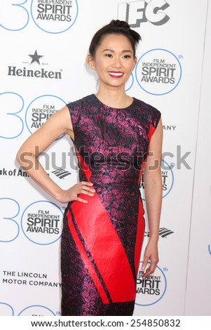 LOS ANGELES - FEB 21:  Hong Chau at the 30th Film Independent Spirit Awards at a tent on the beach on February 21, 2015 in Santa Monica, CA - stock photo