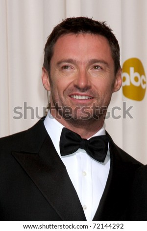 LOS ANGELES -  FEB 27: Hugh Jackman arrives  in the Press Room at the 83rd Academy Awards at Kodak Theater, Hollywood & Highland on February 27, 2011 in Los Angeles, CA - stock photo