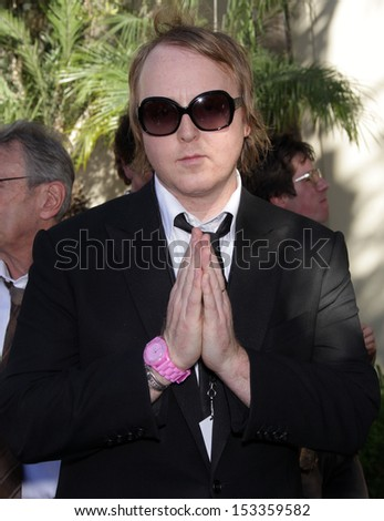 LOS ANGELES - FEB 09:  James McCartney arrives to the Walk of Fame Ceremony for Paul McCartney  on Febraury 09, 2012 in Hollywood, CA                 - stock photo