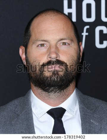 """LOS ANGELES - FEB 13:  Jay Carson the  """"House Of Cards"""" Season 2 Premiere  on February 13, 2014 in West Hollywood, CA                 - stock photo"""