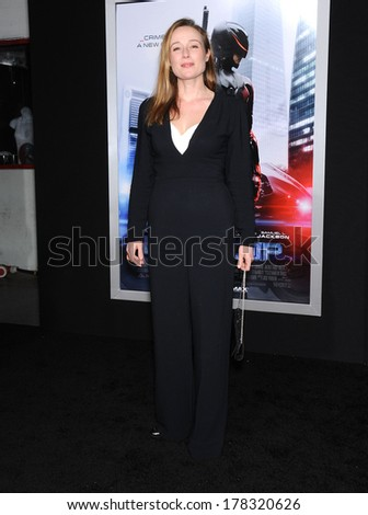 "LOS ANGELES - FEB 10:  Jennifer Ehle arrives to the ""RoboCop"" Hollywood Premiere  on February 10, 2014 in Hollywood, CA"