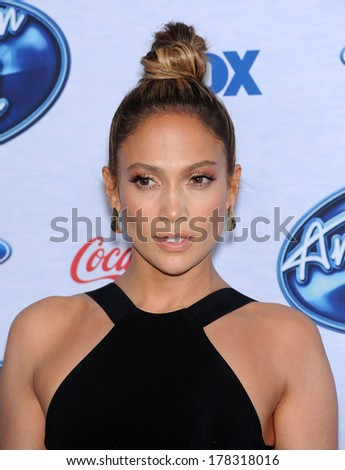 LOS ANGELES - FEB 20:  Jennifer Lopez arrives to the American Idol Top 13 Finalists  on February 20, 2014 in West Hollywood, CA                 - stock photo