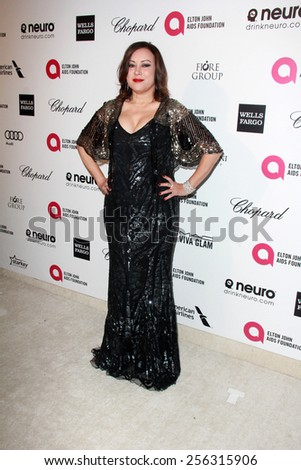 LOS ANGELES - FEB 22:  Jennifer Tilly at the Elton John Oscar Party 2015 at the City Of West Hollywood Park on February 22, 2015 in West Hollywood, CA - stock photo