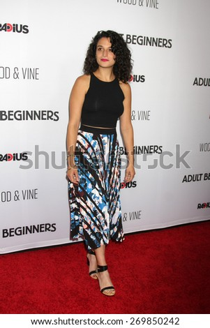 """LOS ANGELES - FEB 15:  Jenny Slate at the """"Adult Beginners"""" Los Angeles Premiere at the ArcLight Hollywood Theaters on April 15, 2015 in Los Angeles, CA - stock photo"""