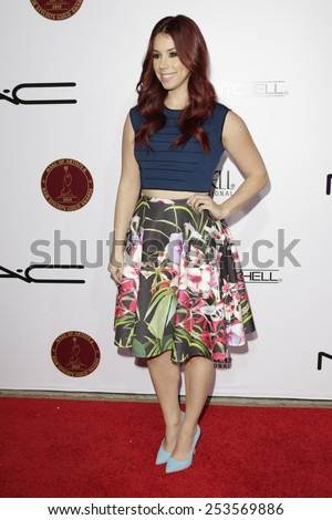LOS ANGELES - FEB 14: Jillian Rose Reed at the Make-Up Artists & Hair Stylists Guild Awards at the Paramount Theater on February 14, 2015 in Los Angeles, CA - stock photo