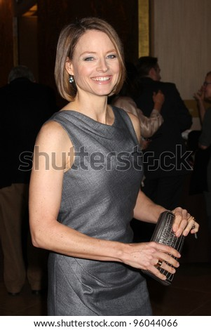LOS ANGELES - FEB 24:  Jodie Foster arrives at the 49th Annual Publicists Guild Awards Luncheon at the Beverly Hilton Hotel on February 24, 2012 in Beverly Hills, CA. - stock photo