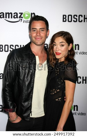 "LOS ANGELES - FEB 3:  John Ierardi, Annabelle Stephenson at the ""Bosch"" Amazon Red Carpet Premiere Screening at a ArcLight Hollywood Theaters on February 3, 2015 in Los Angeles, CA - stock photo"