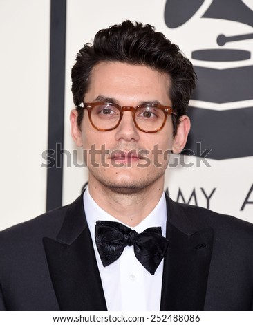 LOS ANGELES - FEB 08:  John Mayer arrives to the Grammy Awards 2015  on February 8, 2015 in Los Angeles, CA                 - stock photo