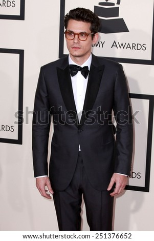 LOS ANGELES - FEB 8:  John Mayer at the 57th Annual GRAMMY Awards Arrivals at a Staples Center on February 8, 2015 in Los Angeles, CA - stock photo