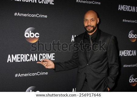 "LOS ANGELES - FEB 28:  John Ridley at the ""American Crime"" Premiere Screening at the The Theatre at Ace Hotel on February 28, 2015 in Los Angeles, CA - stock photo"