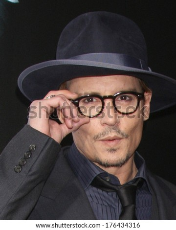 "LOS ANGELES - FEB 12:  Johnny Depp at the ""3 Days to Kill"" LA Premiere at ArcLight Hollywood Theaters on February 12, 2014 in Los Angeles, CA - stock photo"