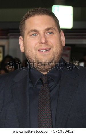 LOS ANGELES - FEB 1:  Jonah Hill at the Hail, Caesar World Premiere at the Village Theater on February 1, 2016 in Westwood, CA - stock photo