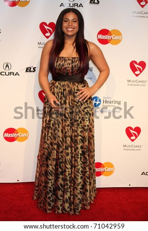 LOS ANGELES - FEB 11:  Jordin Sparks arrives at the Muiscares Gala Honoring Barbra Streisand at Convention Center on February 11, 2011 in Los Angeles, CA