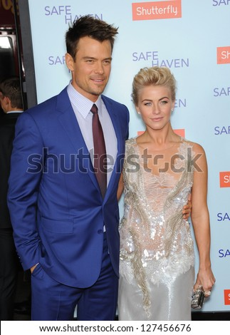 LOS ANGELES - FEB 05:  Josh Duhamel & Julianne Hough arrives to the 'Safe Haven' Hollywood Premiere  on February 05, 2013 in Hollywood, CA