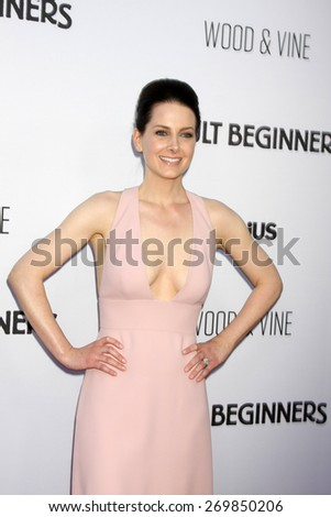"""LOS ANGELES - FEB 15:  Karrie Cox at the """"Adult Beginners"""" Los Angeles Premiere at the ArcLight Hollywood Theaters on April 15, 2015 in Los Angeles, CA - stock photo"""