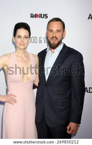"""LOS ANGELES - FEB 15:  Karrie Cox, Marcus Cox at the """"Adult Beginners"""" Los Angeles Premiere at the ArcLight Hollywood Theaters on April 15, 2015 in Los Angeles, CA - stock photo"""