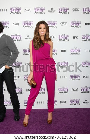 LOS ANGELES - FEB 25:  Kate Beckinsale arrives at the 2012 Film Independent Spirit Awards at the Beach on February 25, 2012 in Santa Monica, CA