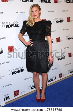 LOS ANGELES - FEB 8:  Katee Sackhoff arrives to the Art Director's Guild Awards 2014  on February 08, 2014 in Hollywood, CA