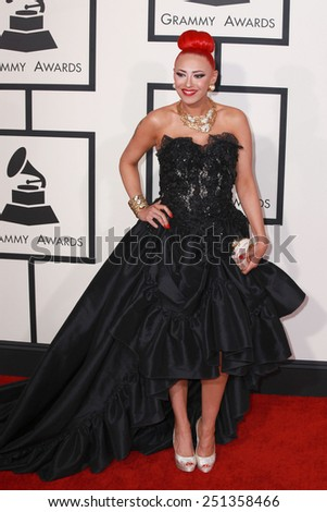 LOS ANGELES - FEB 8:  Kaya Jones at the 57th Annual GRAMMY Awards Arrivals at a Staples Center on February 8, 2015 in Los Angeles, CA - stock photo