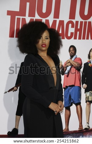 LOS ANGELES - FEB 18: Kellee Stewart at the 'Hot Tub Time Machine 2' premiere on February 18, 2014 in Los Angeles, California - stock photo