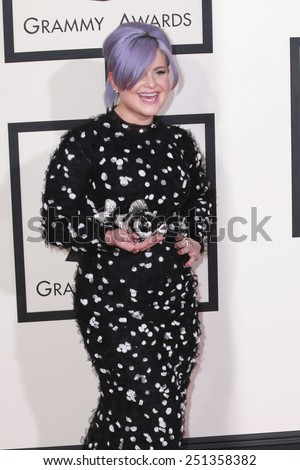 LOS ANGELES - FEB 8:  Kelly Osbourne at the 57th Annual GRAMMY Awards Arrivals at a Staples Center on February 8, 2015 in Los Angeles, CA - stock photo