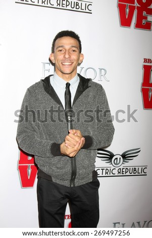 """LOS ANGELES - FEB 13:  Khleo Thomas at the """"Brotherly Love"""" LA Premiere at the Silver Screen Theater at the Pacific Design Center on April 13, 2015 in West Hollywood, CA - stock photo"""