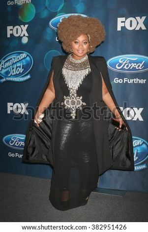 LOS ANGELES - FEB 25:  La'Porsha Renae at the American Idol Farewell Season Finalists Party at the London Hotel on February 25, 2016 in West Hollywood, CA - stock photo